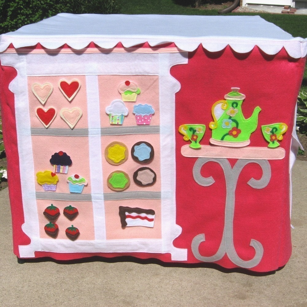 Cardtable Playhouse Add On Pattern, CupCakery, Pattern, eBook, nearly 30 Pages