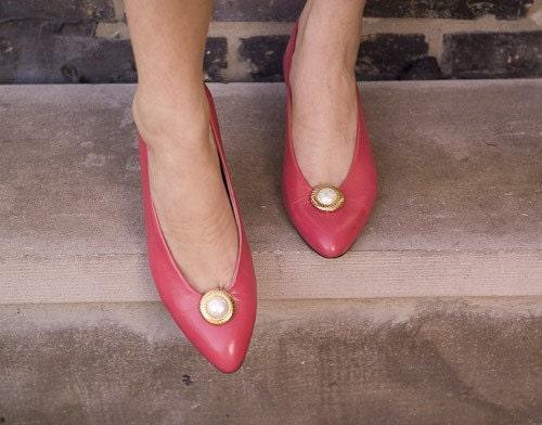 pink bandolino heels