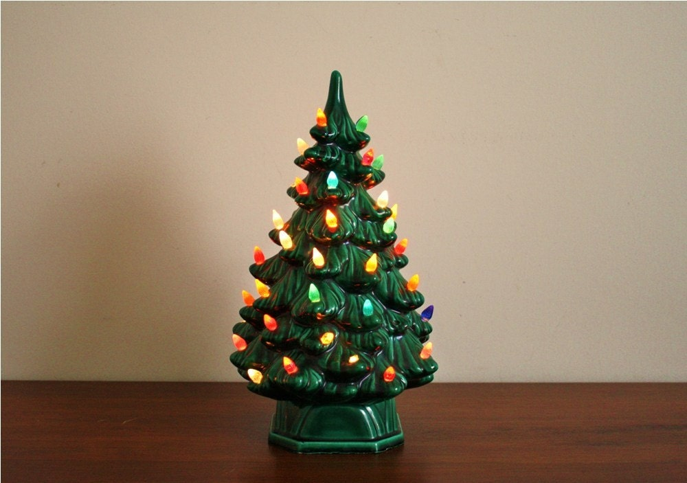 Vintage 1960s Ceramic Christmas Tree Electric By