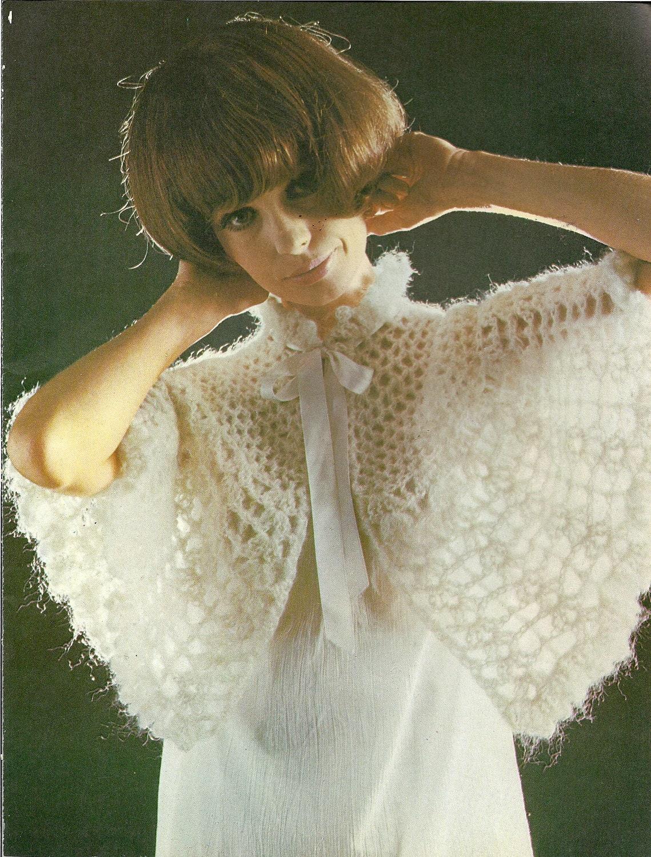 Vintage Pattern, Lady's Dainty Bed Cape  Crochet Pattern ,  crochet  pdf pattern