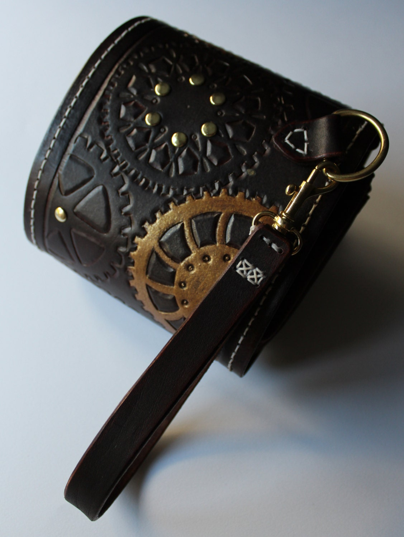 Steampunk Style Drawstring Clutch Bag - PJYWorkshop