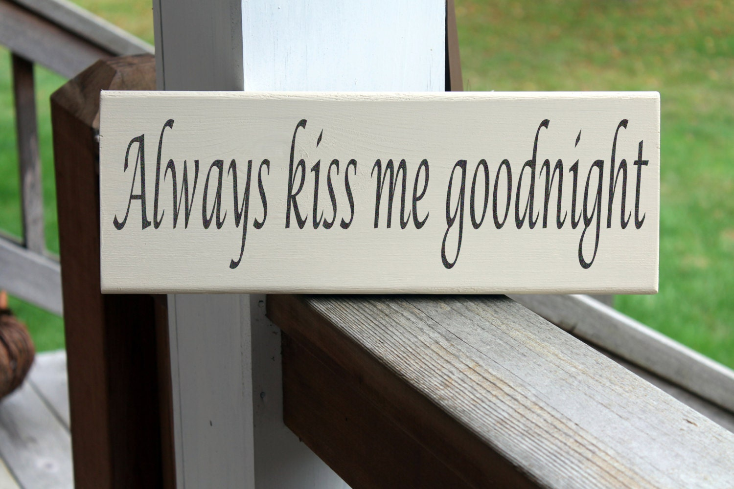 Wall Stickers Quotes Always Kiss Me Goodnight Pillow