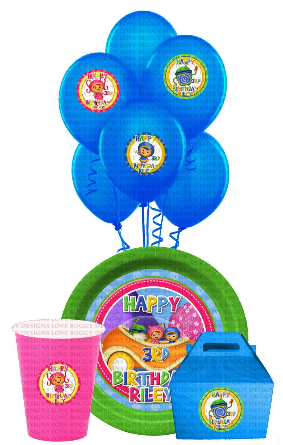 Team umizoomi cupcake toppers team umizoomi by lovebuggydesigns