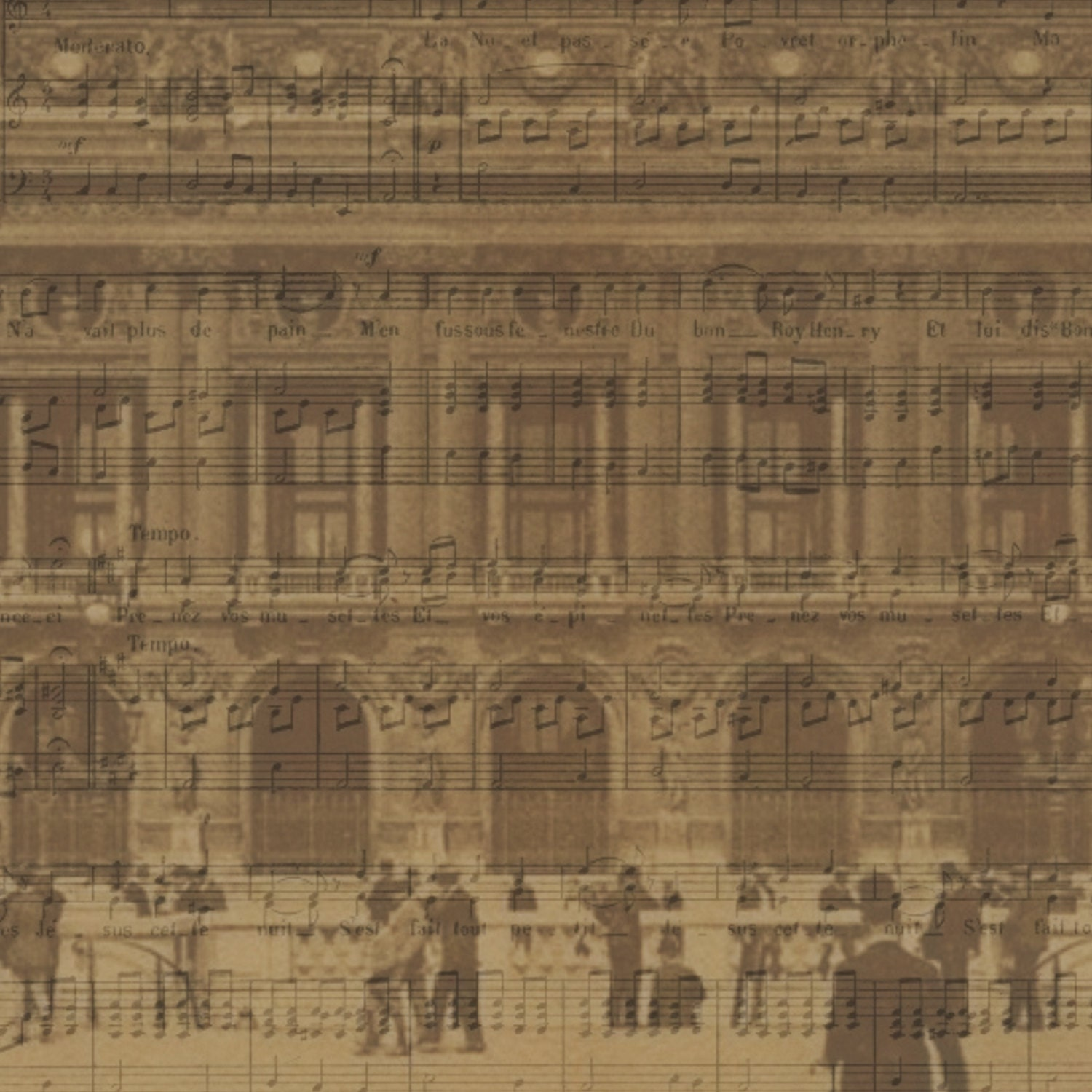 Paris opera house sheet music background paper by greyslion for Commercial house music