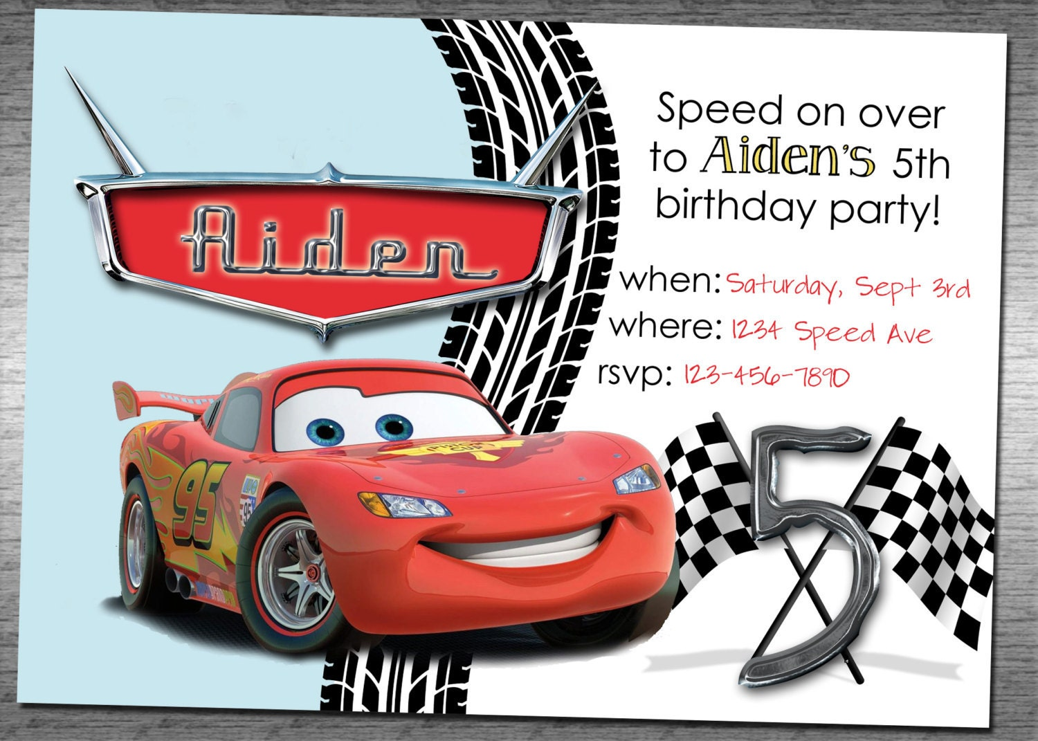 Cars 2 Birthday Invitation Templates Free Disney Party