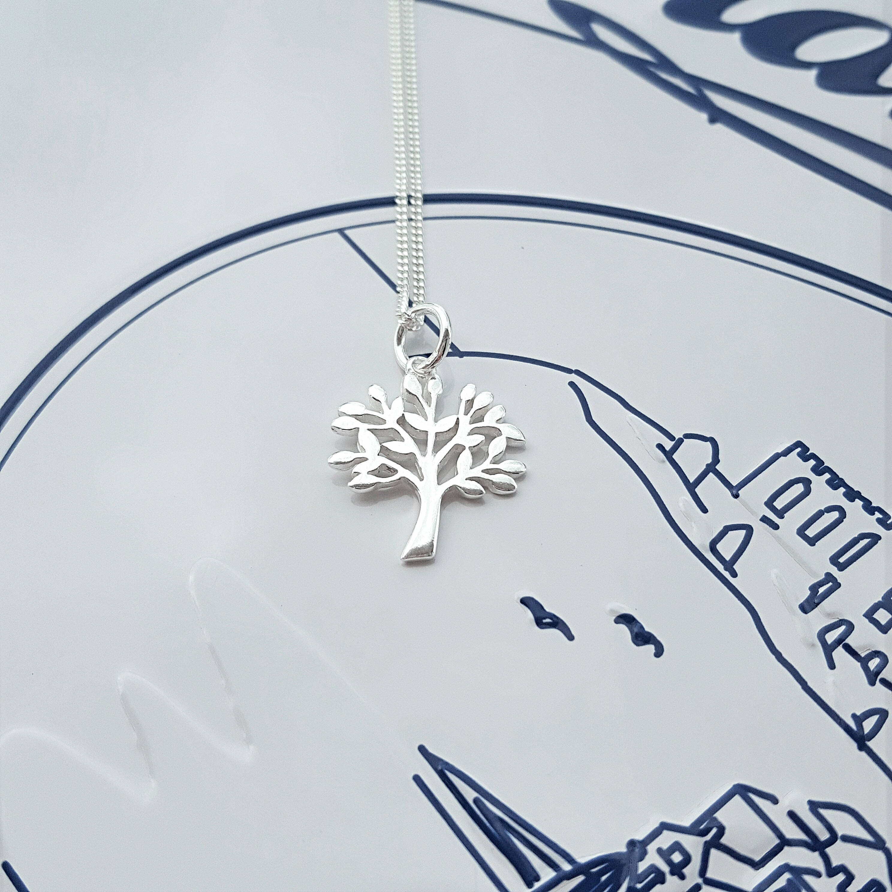 Family Tree Necklace Sterling Silver Family Tree Necklace Silver Family Tree Necklace Silver Family Tree Family Tree Charm Tree of Life