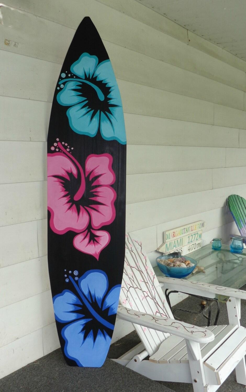 6 foot wood hawaiian surfboard wall art by serendipitysurfshop for Surfboard craft for kids