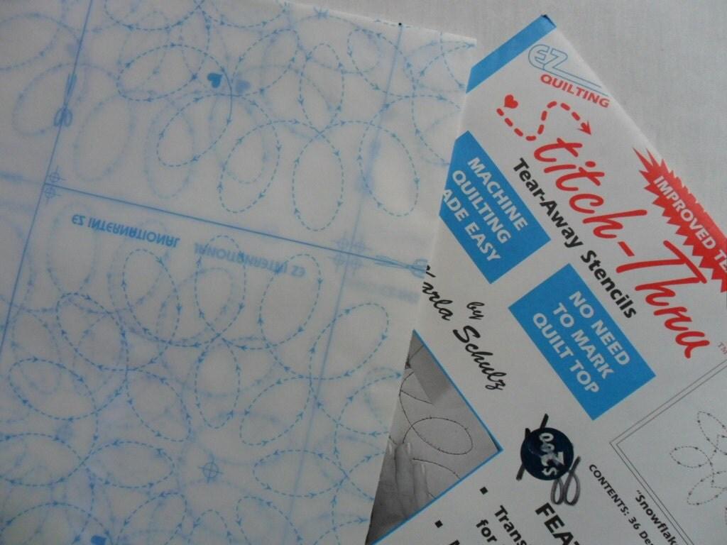 pair of Uncut Stitch Thru Tear Away Quilting Stencils by GTDesigns