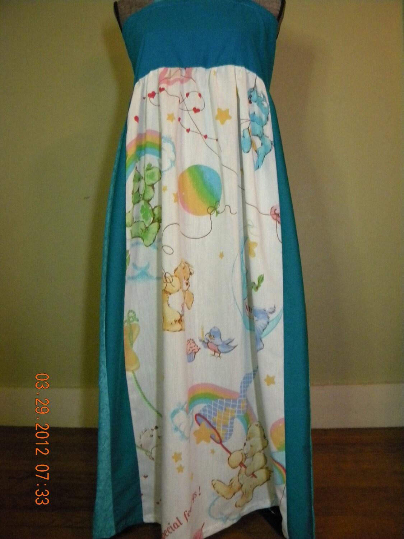 Vintage Care Bear Hippie Dress