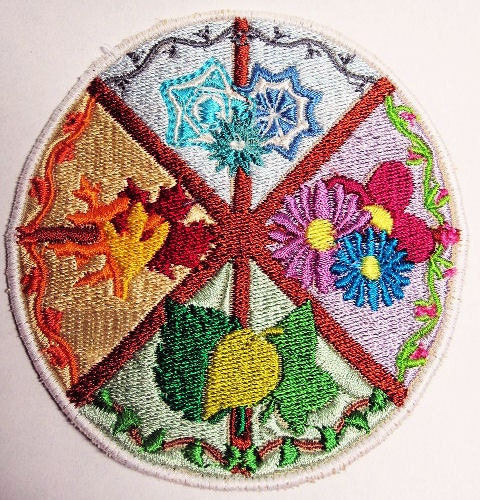 Wheel of the Year Seasonal Embroidered Patch