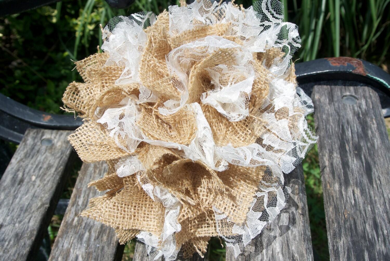 items similar to fall wedding decor burlap lace pom pom. Black Bedroom Furniture Sets. Home Design Ideas