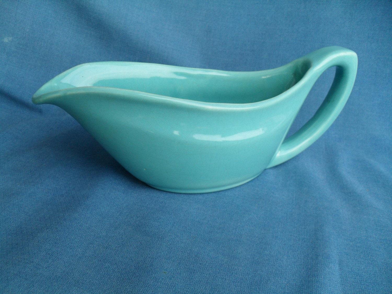 Vintage bauer pottery gravy boat by vintagefunland on etsy