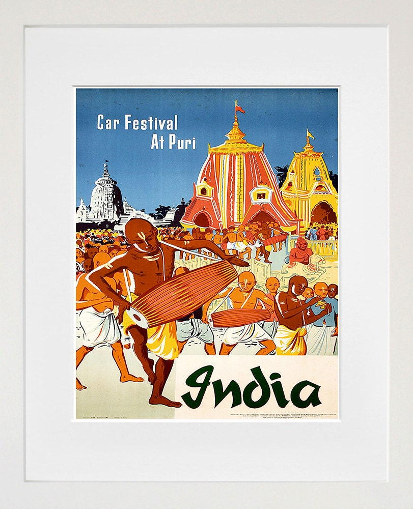 Hindu Poster Art: India Travel Poster Indian Wall Art Print Home By Blivingstons