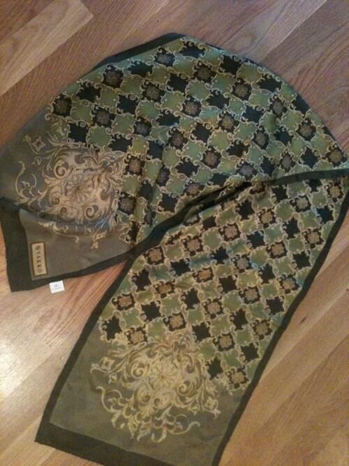 sale vakko silk scarf made in turkey 1940s by