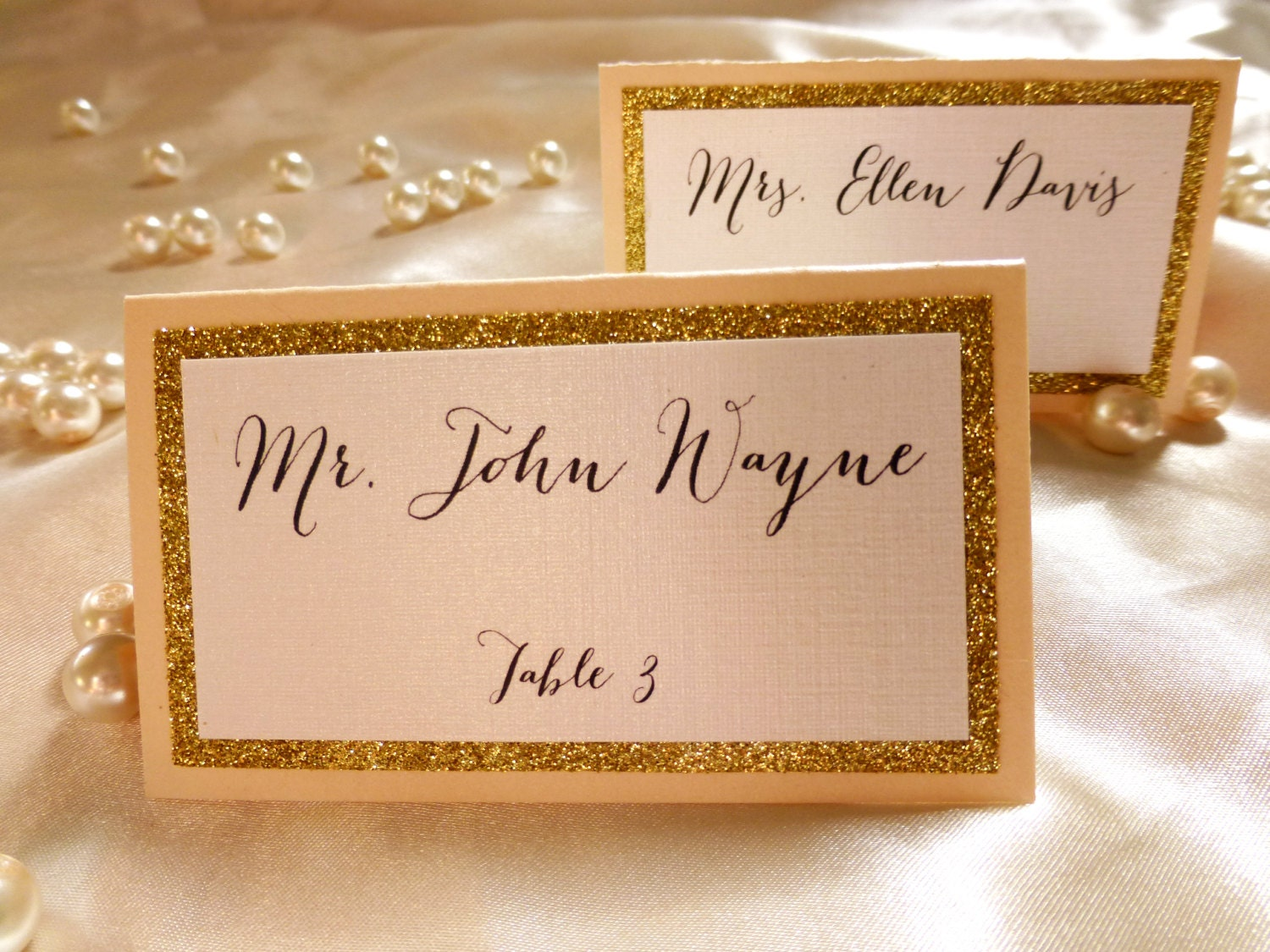 Blush and Gold place cards