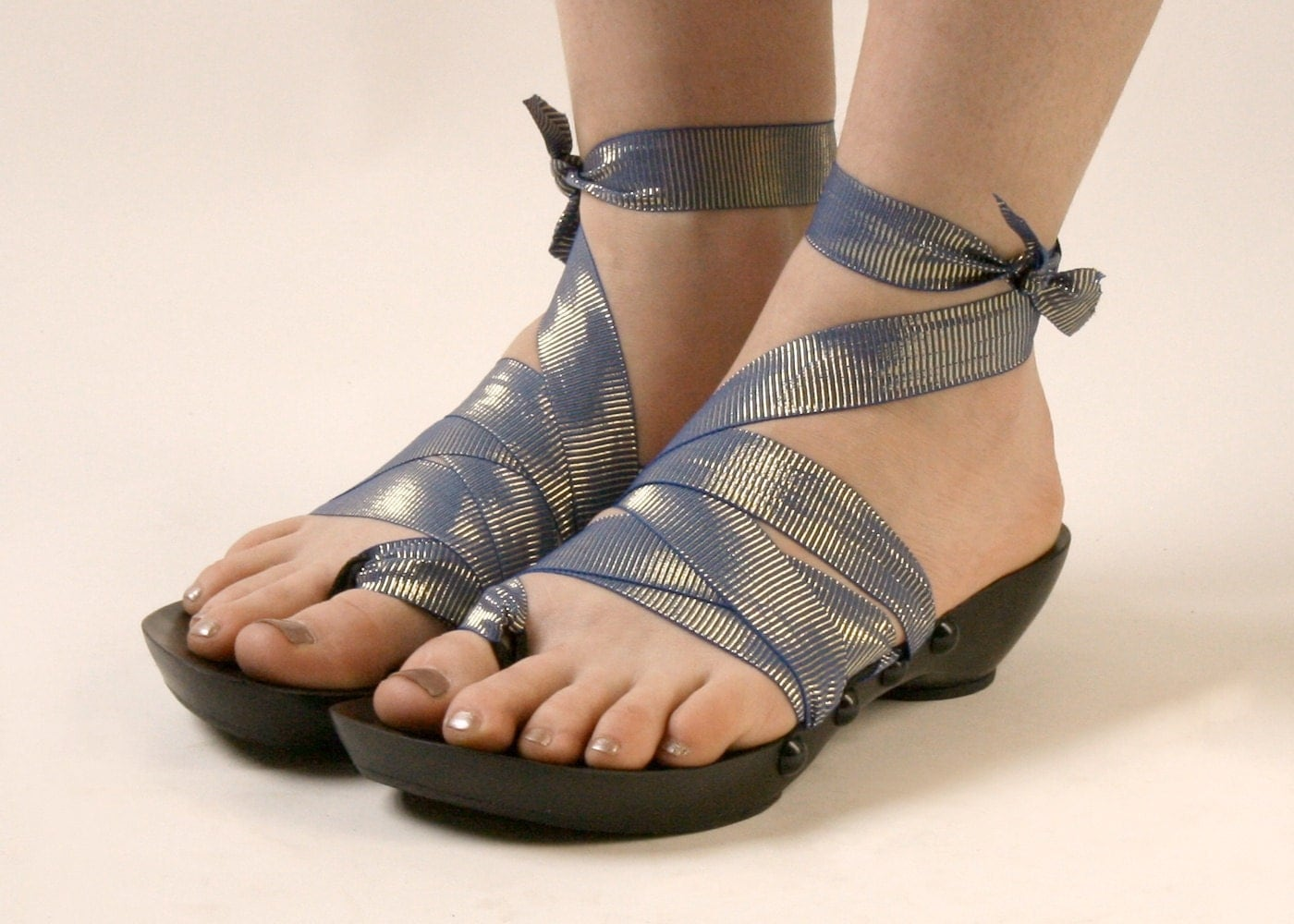 Mohop Shoes Vegan Sandals With Interchangeable Ribbons
