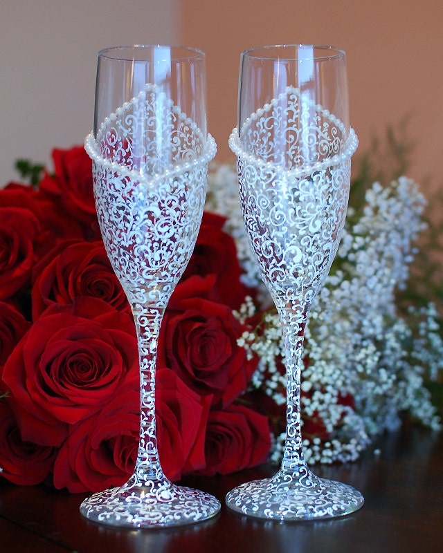 bride and groom champagne glasses bridal shower by weddingbyann