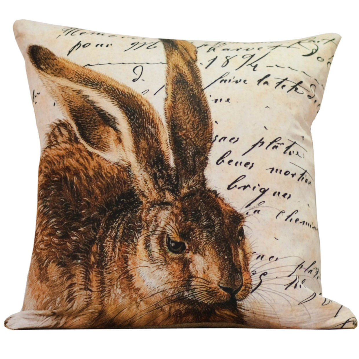SHIPS TODAY Easter Bunny Throw Pillow Cover by ElliottHeathDesigns