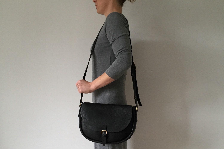 Large black leather saddle bag large black handbag black shoulder bag black satchel large black purse large black handbag large purse