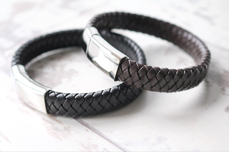 VALENTINES GIFT Mens Leather Bracelet