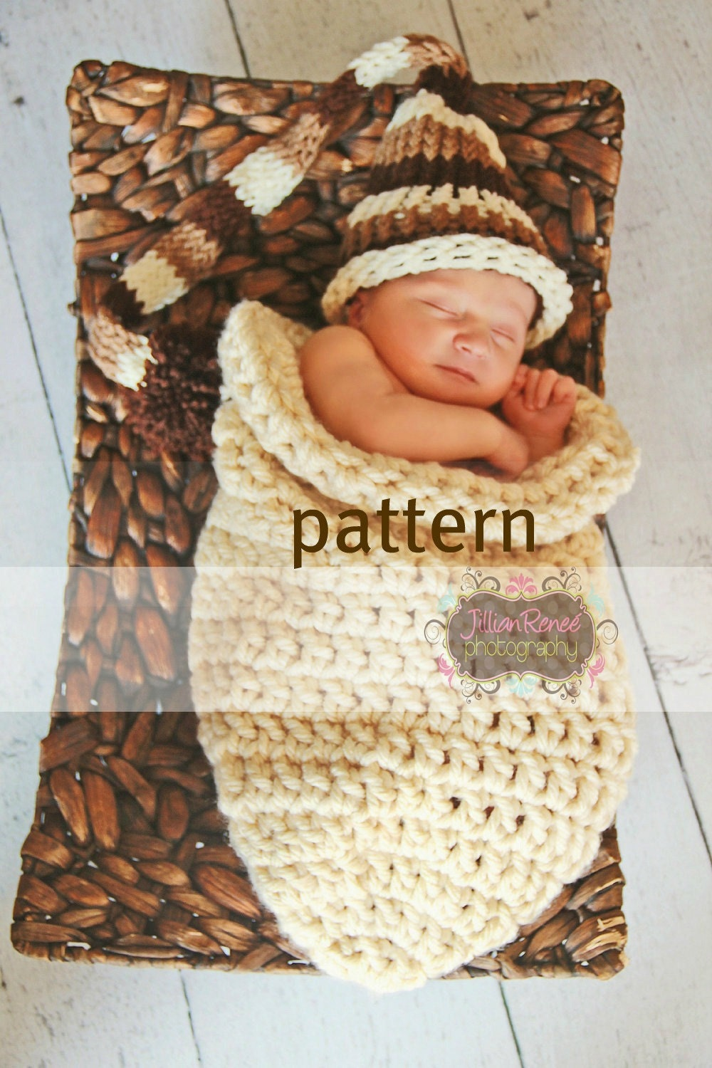 Knitting Stich Patterns : Baby Cocoon CROCHETING PATTERN One Hour Chunky Cocoon by PropShop