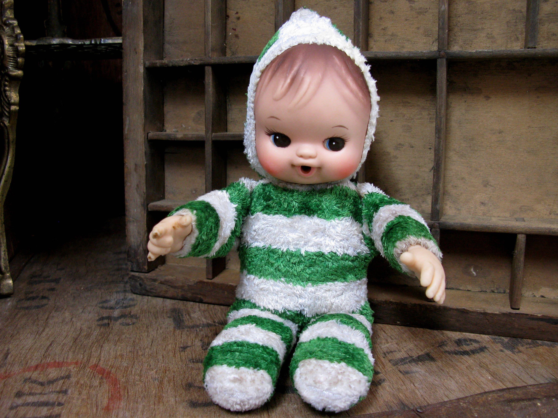Vintage Pram Doll Soft Doll Fabric Doll Bella Pouet Vintage Doll 1960s Doll Mid Century Doll 1960s Toy Baby Doll Fabric Doll Cute