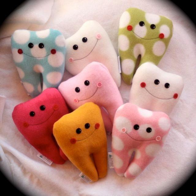 "Custom 6"" Fleecy Tooth Fairy Pillow Friend with name embroidery - Hannalah"