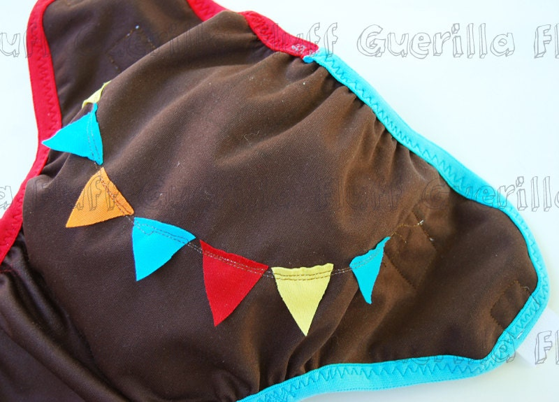 Appluqued Newborn Celebration PUL Cover NEW - PENNY SHIP