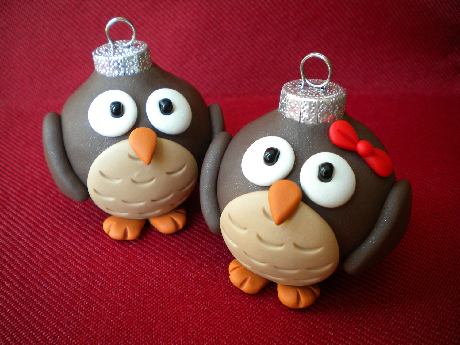 Owl Christmas Ornaments / Photo Holders