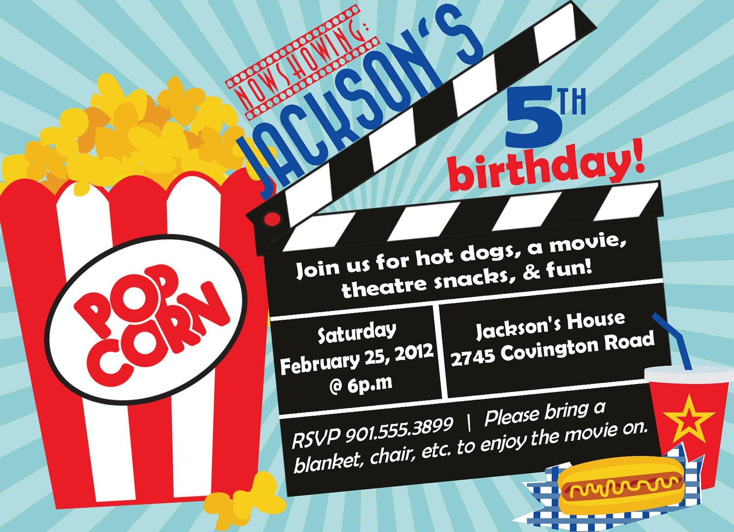 movie ticket invitation template – Movie Themed Party Invitations