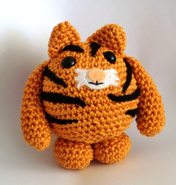 Crochet Pattern For Amigurumi Tiger : Tiger tiger fat friends amigurumi PDF crochet by ...