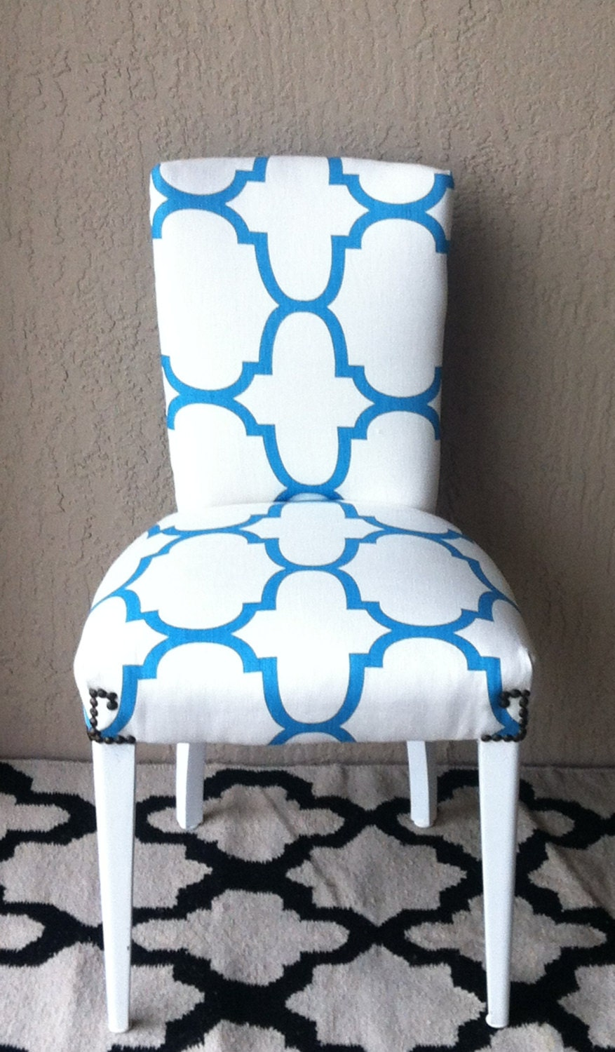 301 moved permanently - Turquoise upholstered dining chair ...