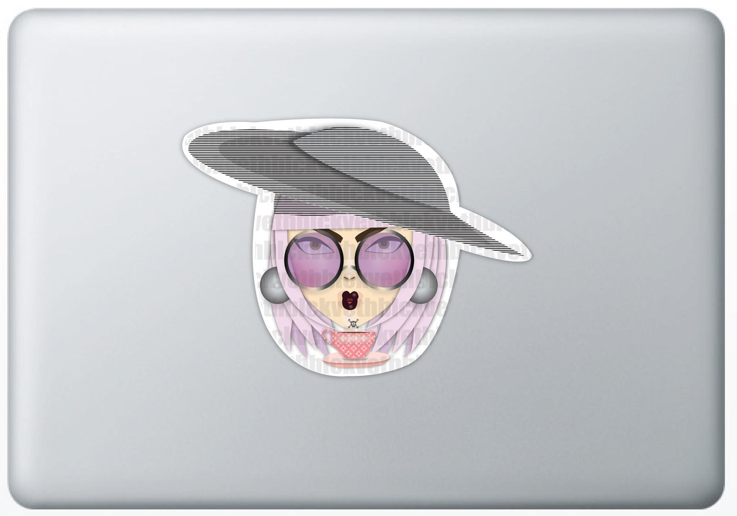 Chicky Lady Gaga, Sticker - VethBlack