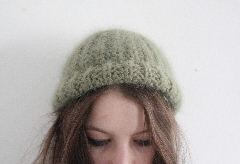 vintage soft pea green beanie - whatezekielsaw