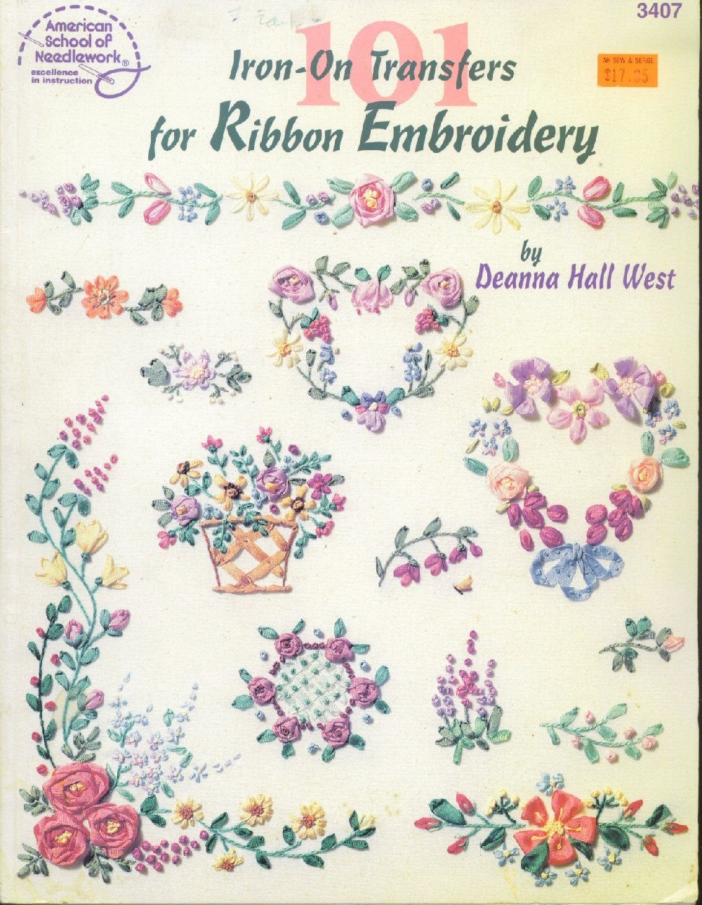 Ribbon embroidery iron on transfers by themainecooncat