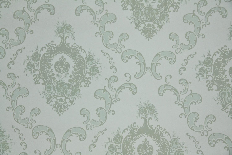 1950s vintage wallpaper white - photo #21