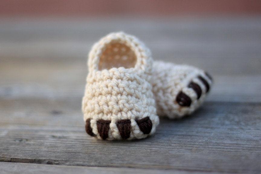 Teddy Bear Booties - foxandthebee