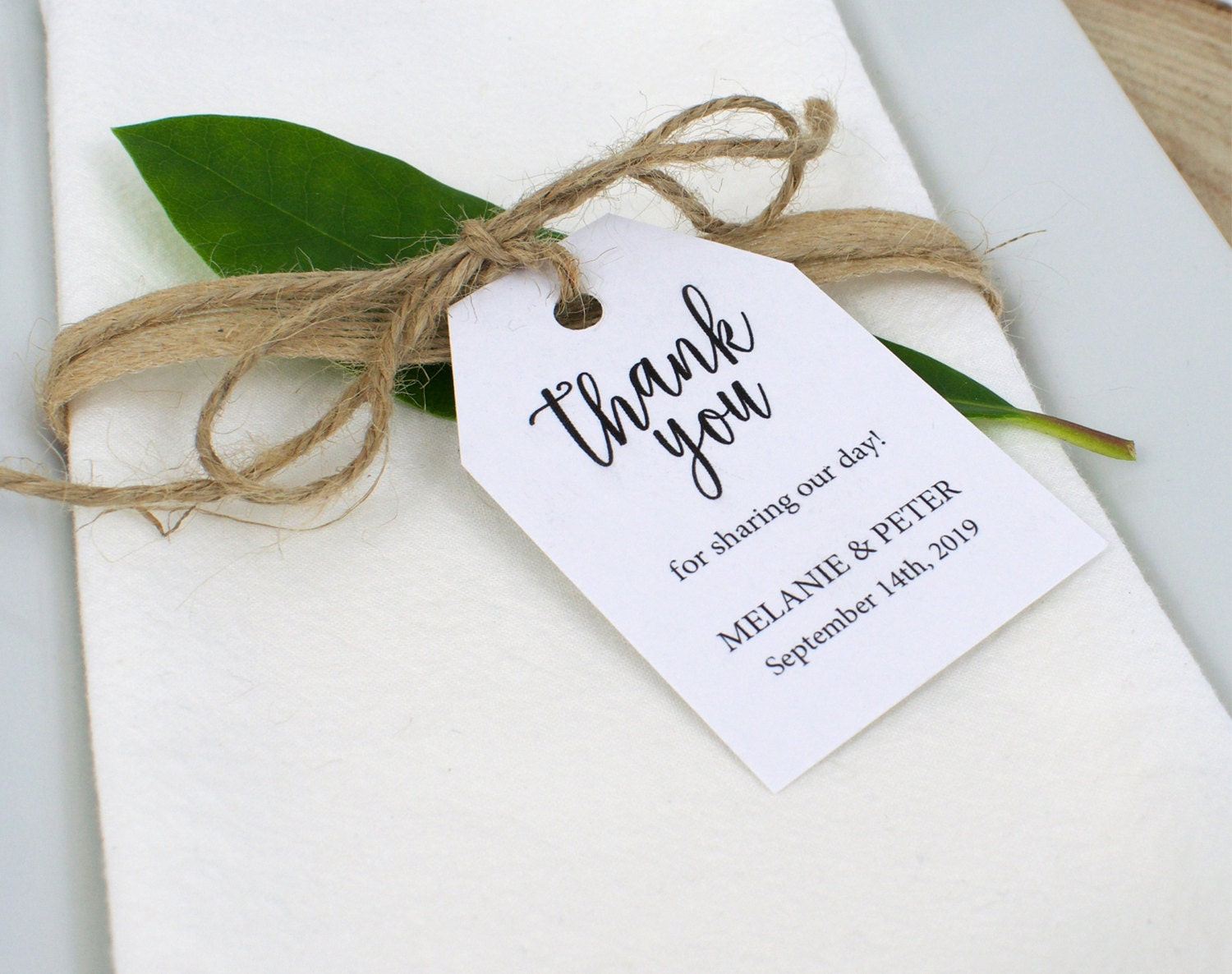 Thank You Tag Template Wedding Thank You Tag Rustic Favor Tag Thank You Tag Printable Wedding Printable Instant Download M021