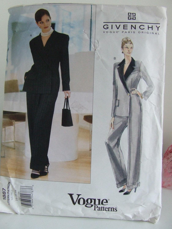 Vogue Paris Original Pattern Givenchy 1887 by ...