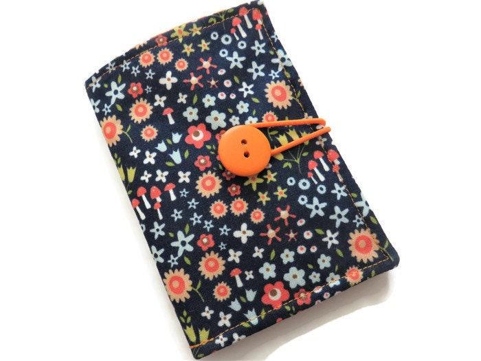 Navy Blue Fabric Tea Bag Holder Wallet for Tea Bags Card Wallet Tea Bag Wallet Teabag Wallet Teabag Case