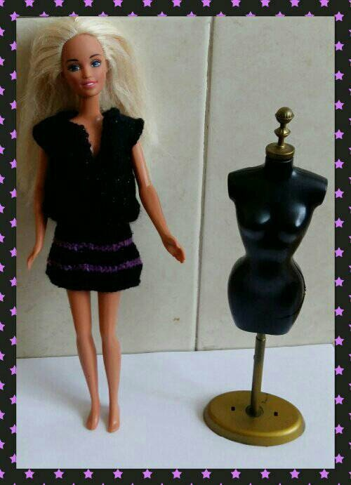 Barbie top and striped skirt design  (20)