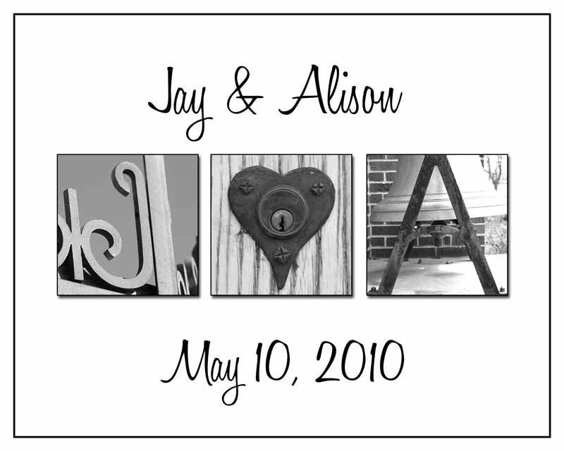 Wedding Gift Alphabet Art : Alphabet Art Photos Wedding Gift Personalized by artofwhimsyphoto