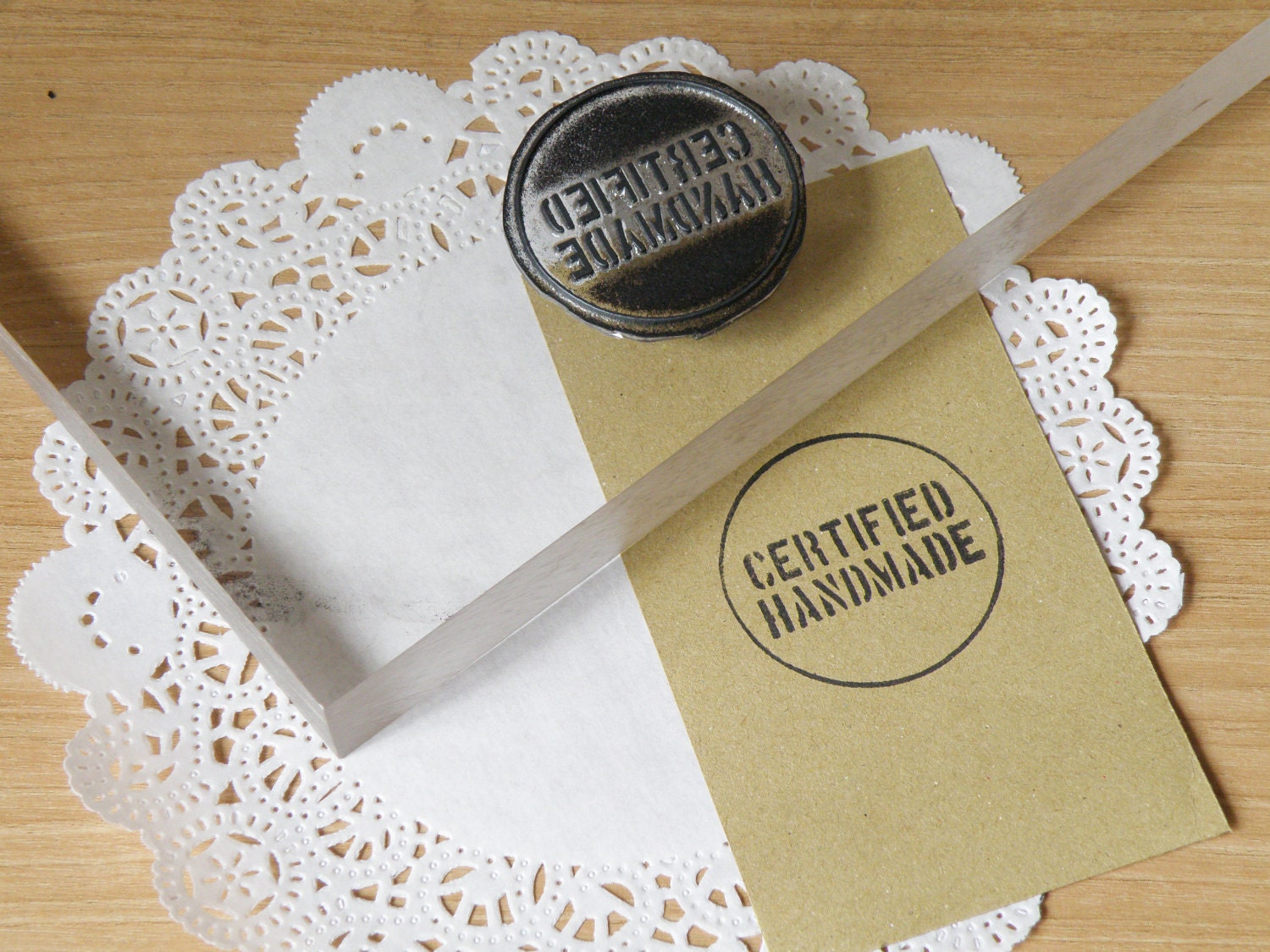 Certified Handmade Clear Polymer Rubber Stamp