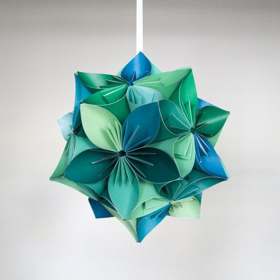 Цветы-шары из бумаги
