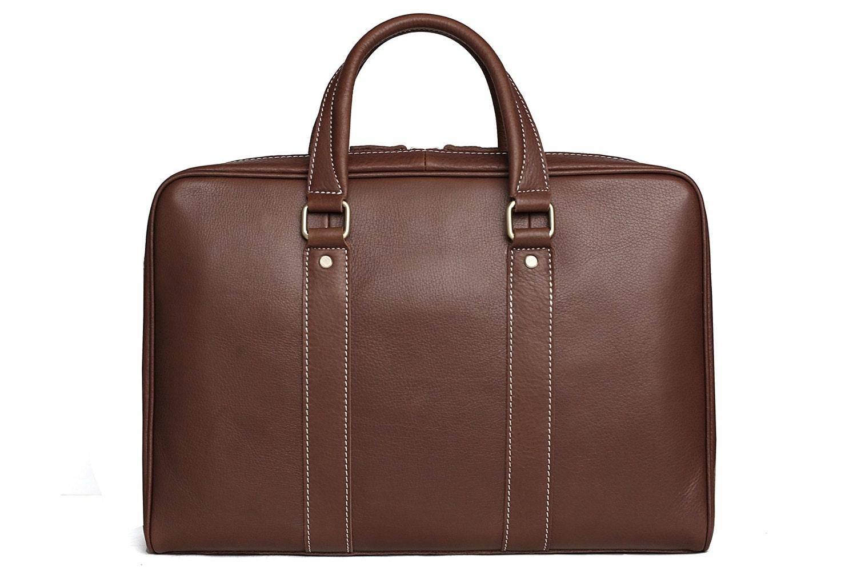 Handmade Top Grain Genuine Leather Messenger Bag Laptop Bag  Men  Women Business Briefcase Men Handbag