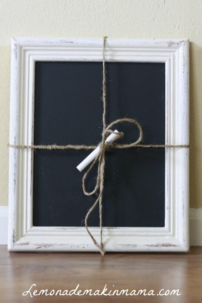 Small Farmhouse White Framed Chalkboard by Lemonademakinmama