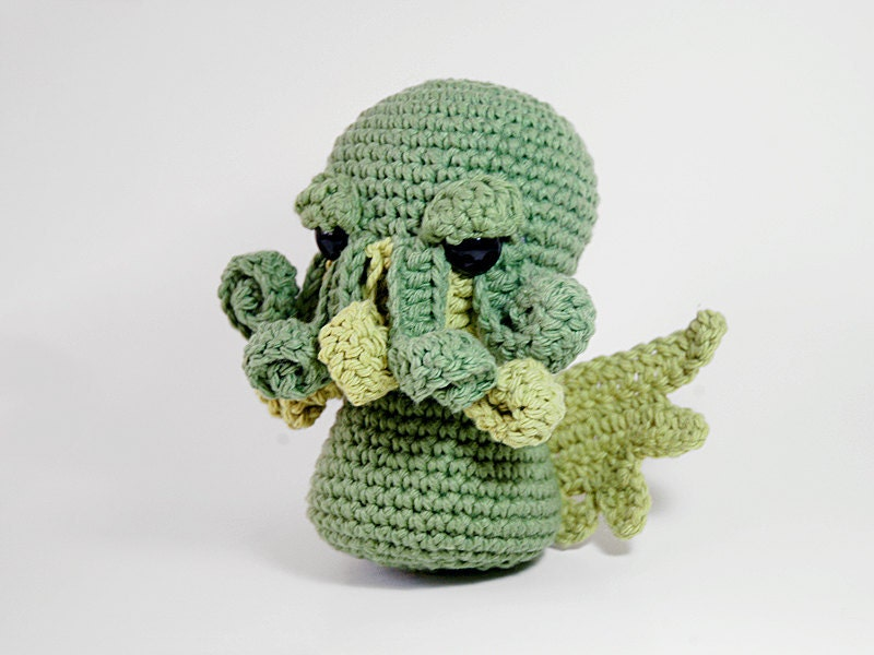 PATTERN Cthulhu Crocheted Amigurumi by LadyLilliput on Etsy