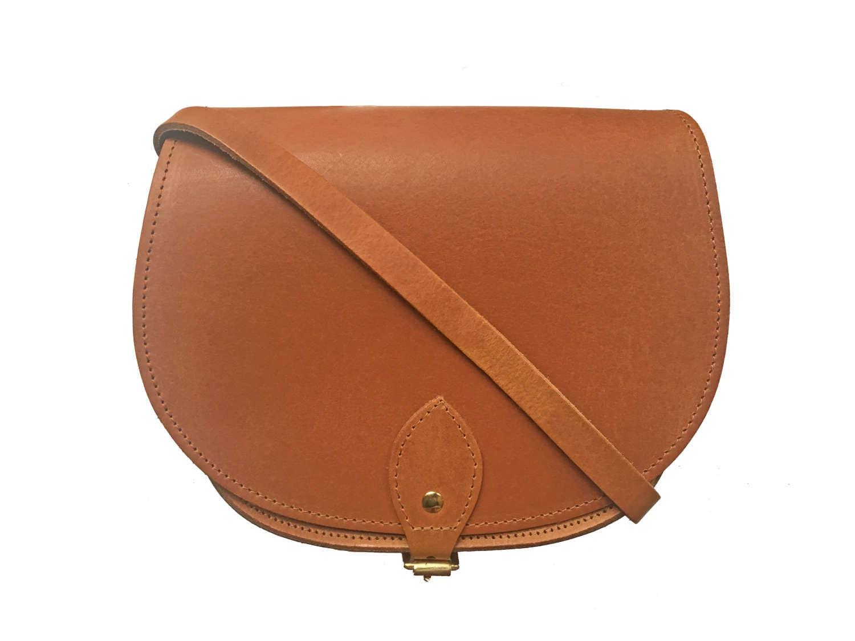 Leather Saddle Bag In Vintage Tan  Handmade In Uk  Brown Saddle Bag  Girlfriend Gift  Tan Satchel  Tan Leather Bag