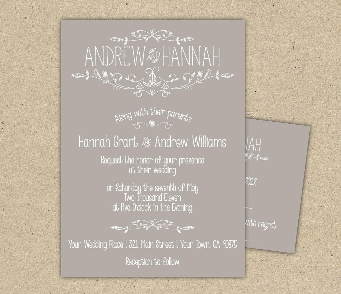 Wedding Invitation Wording: Wedding Invitation Wording ...