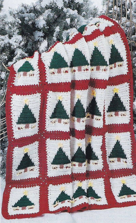 Crochet Afghan Patterns Christmas : Christmas Afghan Crochet Pattern Christmas by PaperButtercup